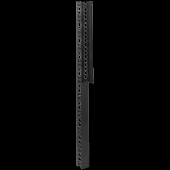 Вертикальный кабельный организатор с крышкой, 90х110мм, 42U