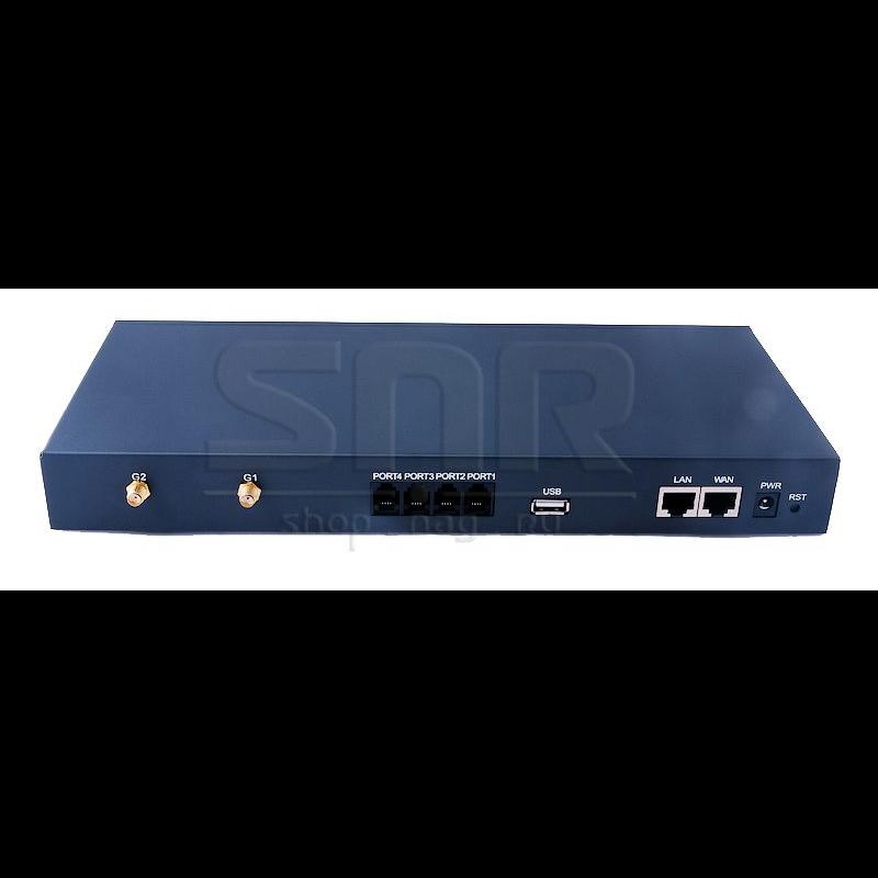 IP АТС SNR-VX50, 2 порта FXS, 2 порта FXO, 2 GSM, до 100 SIP регистраций
