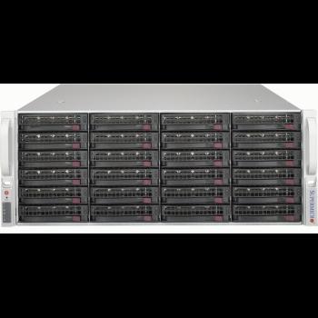 "Платформа Supermicro 4U SSG-5049P-E1CTR36L, Один процессор Intel Xeon Scalabl, Intel C622, DDR4, 36x3.5""HDD, 2x2,5""HDD, SAS3 via LSI 3008, 2x10GBase-T"