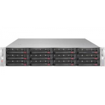"Платформа Supermicro 2U SSG-6028R-E1CR12T, Два процессора E5-2600v3/v4, DDR4, 12x3.5"" SAS/SATA HDD, 4x10GBase-T"