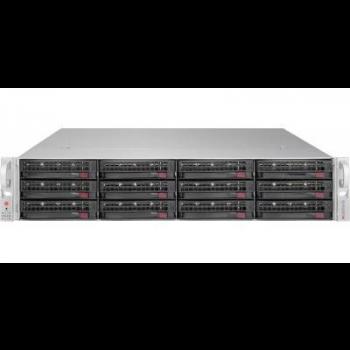 "Платформа Supermicro 2U SSG-6028R-E1CR12T, Два процессора E5-2600v3/v4, DDR4, 12x3.5"" SAS/SATA HDD, 4x10GBase-T"