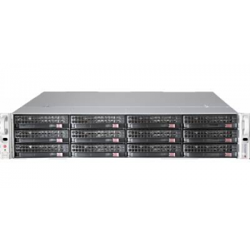 "Платформа Supermicro 2U SSG-6029P-E1CR12T, Два процессора Intel Xeon Scalable, DDR4, 12x3.5"" SAS/SATA HDD, 2x10GBase-T"