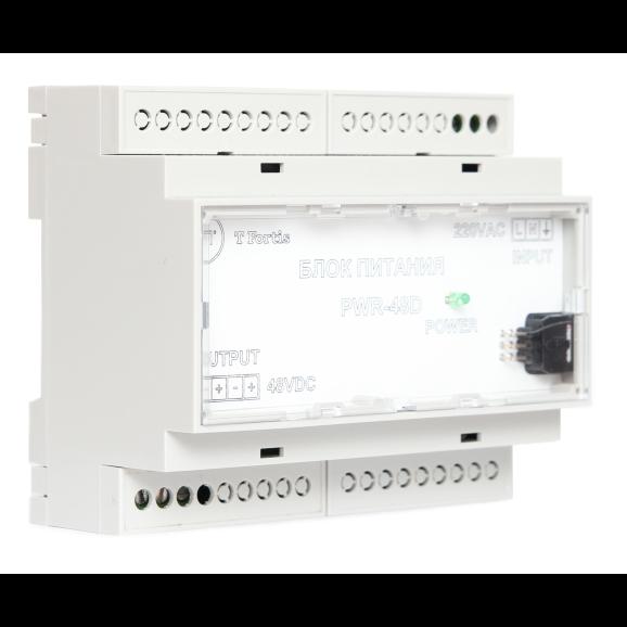 Неуправляемый коммутатор TFortis SWD-1 для подключения 4 камер с функцией перезагрузки и креплением на DIN-рейку