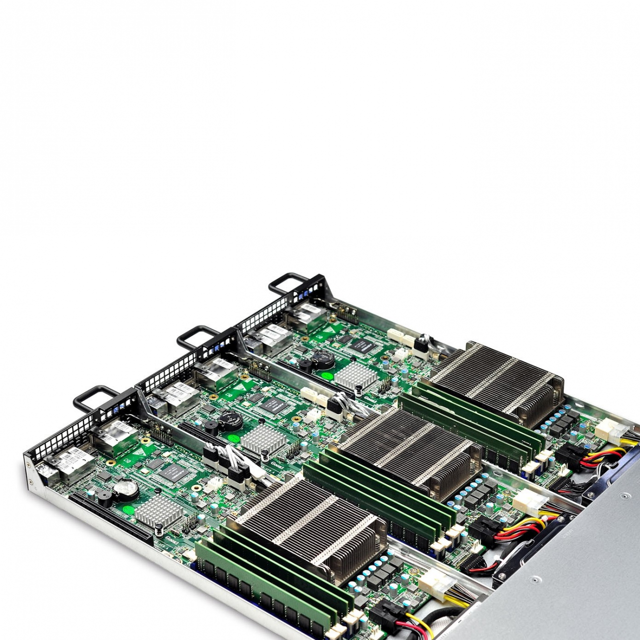 Серверная платформа 1U Barebone ,3*Nodes,6*HDD trays,Single Socket Xeon LGA1150 E3-1200v3/v4MB,500W DELTA PSU,Heatsink,Slide Rail