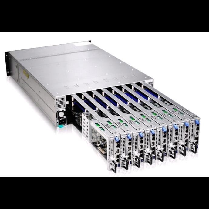 Серверная платформа Gooxi 3U SY308-S16R 8xNode, without CPU(LGA1151)/4*DDR4 ECC UDIMM/ C242 / no HDD(2)LFF/ 4xGE