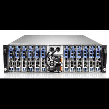 Серверная платформа Gooxi 3U SY312-S24R-G3 12xNode, no CPU(LGA1151)/4*DDR4 ECC UDIMM/ C242 / no HDD(2)LFF/ 4xGE