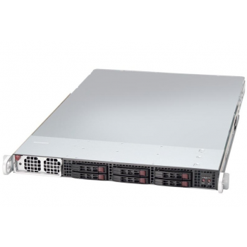 "Платформа Supermicro 1U SYS-1019GP-TT, 1 процессор Intel Scalable, DDR4, 6x2,5"" HDD SAS/SATA, 2x10Gbase-T, до двух графических ускорителей"