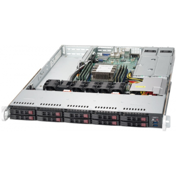 "Платформа Supermicro 1U SYS-1019P-WTR, до одного процессора Intel  Xeon Scalable, DDR4, 10x2,5"" HDD SATA, 2x10GBase-T"