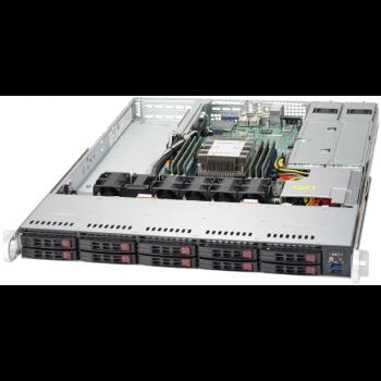 """Платформа Supermicro 1U SYS-1019P-WTR, до одного процессора Intel  Xeon Scalable, DDR4, 10x2,5"""" HDD SATA, 2x10GBase-T"""