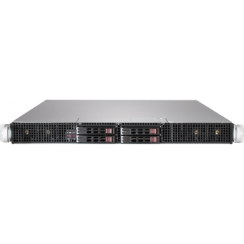 "Платформа Supermicro 1U SYS-1029GP-TR, до двух процессоров Intel Scalable, DDR4, 4x2,5"" HDD SATA, 2 порта 1000Base-T, до трех графических ускорителей"