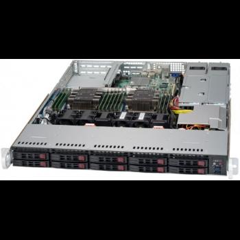 "Платформа Supermicro 1U SYS-1029P-WTRT, Два процессора Intel  Xeon Scalable, DDR4, 10x2,5"" HDD SATA, 2x10GBase-T"