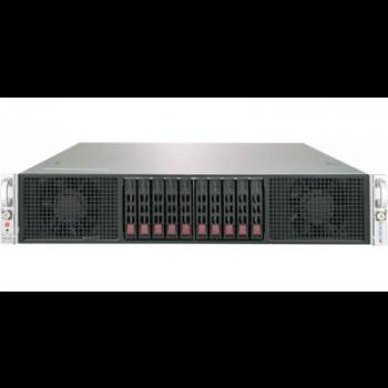 "Платформа Supermicro 2U 2029GP-TR, до двух процессоров Intel Scalable, DDR4, 10x2,5"" HDD SATA, 2 порта 1000Base-T, до шести графических ускорителей"