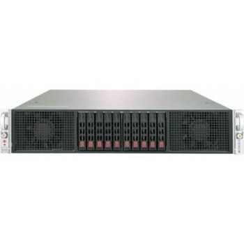 "Платформа Supermicro 2U 2029GP-TR, до двух процессоров Intel Scalable, DDR4, 10x2,5"" HDD SATA, 2 порта 1000Base-T, до шести графических ускорителей"