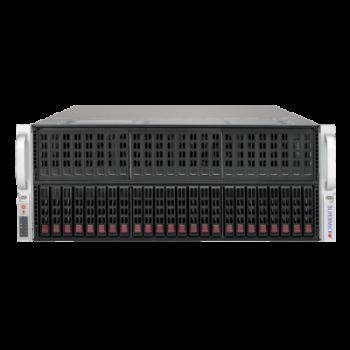 "Платформа Supermicro 4U SYS-4029GP-TRT, до двух процессоров Intel Scalable, DDR4, 24x2,5"" HDD SATA, до восьми графических ускорителей"