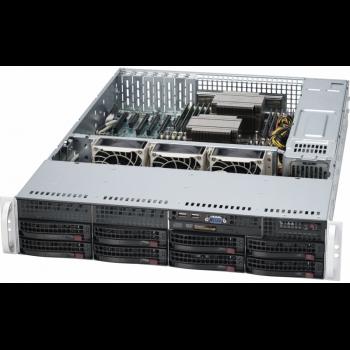 "Платформа Supermicro 2U SYS-6029P-TRT, Два процессора Intel Xeon Scalable, DDR4, 8x3,5"" HDD SATA, 2x10GBase-T"