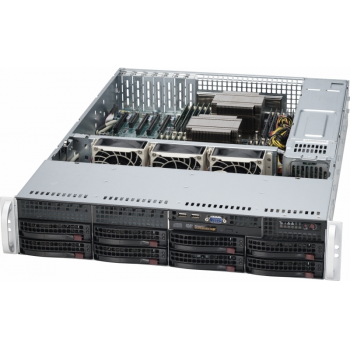 "Платформа Supermicro 2U SYS-6029P-TRT, Два процессора Intel Xeon Scalable, DDR4, 8x3,5"" HDD SATA, 2x10GBase-T"