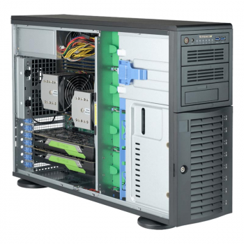 "Платформа Supermicro 4U SYS-7049A-T, до двух процессоров Intel Xeon Scalable, DDR4, 8x3,5"" HDD SATA, 2x1000Base-T, до двух графических ускорителей"
