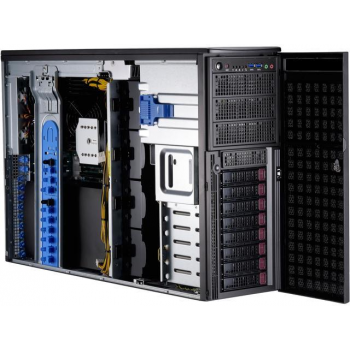 "Платформа Supermicro 4U SYS-7049GP-TRT, до двух процессоров Intel Scalable, DDR4, 8x3,5"" HDD SATA, 2x10Gbase-T, до четырех графических ускорителей"