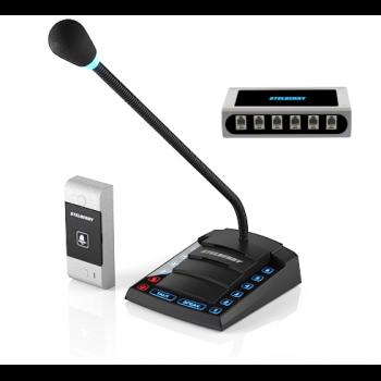 6-канальное переговорное устр-во Stelberry S-660 для АЗС класса «Клиент-Кассир» с функциями диспетч. связи, громкого оповещения и режимом «СИМПЛЕКС»