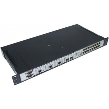 Мультиплексор оптический 4x E1 + 2x Gigabit Ethernet 1000BASE-T, без SFP трансиверов