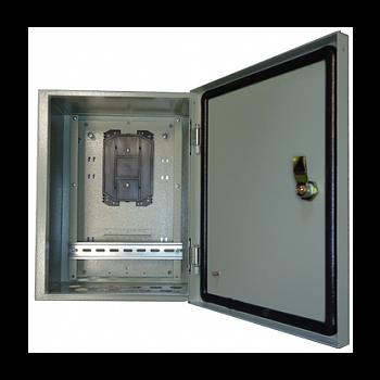 Металлический шкаф с установленым оптическим кроссом для PSW