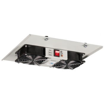 Вентиляторный блок TLK для шкафов серии TFI и TWI глубиной от 450 мм, 2 вентилятора с терморегулятором, без шнура питания, серый