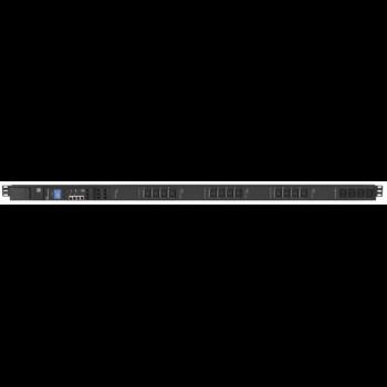 Управляемый блок розеток Tesla Power серии PRO 16 розеток, вертикальный монтаж (уценка, после теста)