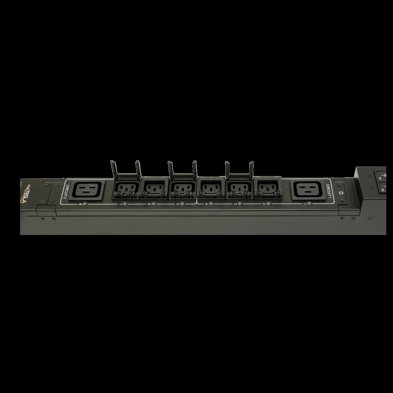 Блок розеток с функцией управления каждой розеткой серия STD, 20xC13, 4xC19, вход IEC60309 32A (2P+PE)