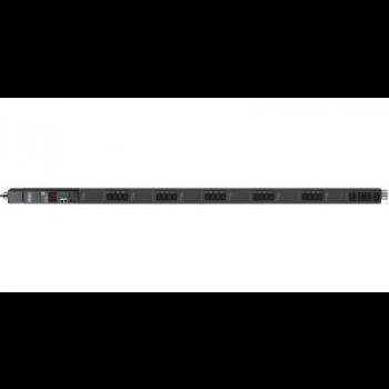 Управляемый блок розеток Tesla Power серии STD 24 розетки, вертикальный монтаж, IEC 60309 32A(2P+E), после теста