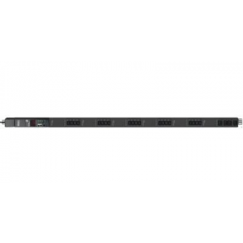 Управляемый блок розеток Tesla Power серии STD 24 розетки, вертикальный монтаж, IEC 60309 32A(2P+E), отсутствует упаковка