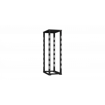 """19"""" Монтажная стойка двухрамная 42U Ш600xГ1000мм, черная"""