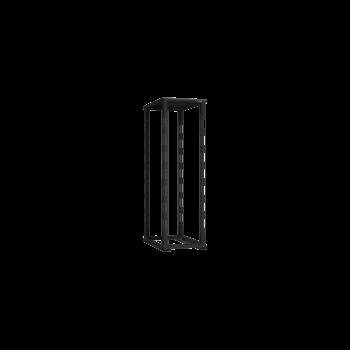 """19"""" Монтажная стойка двухрамная 42U Ш600xГ800мм, черная"""