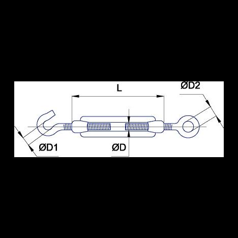 Талреп DIN 1480 С+О M16