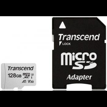 Флеш-накопитель Transcend Карта памяти Transcend 128GB UHS-I U3A1 microSD with Adapter