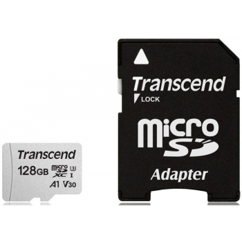 Флеш-накопитель Transcend Карта памяти Transcend 128GB UHS-I U3A1 microSD with Adapter