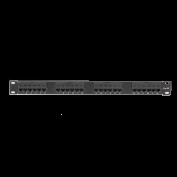 """Коммутационная панель ULAN 19"""", 1U, 24 порта, Кат.5e (Класс D), 100МГц, RJ45/8P8C, 110, T568A/B, неэкранированная, черная"""