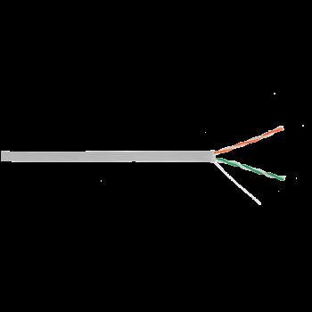 Кабель ULAN U/UTP 2 пары, Кат.5, внутренний, PVC, одножильный, 100МГц, серый, 305м