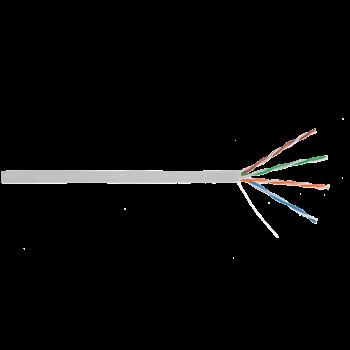 Кабель ULAN U/UTP 4 пары, Кат.5e, 100МГц, одножильный, BC (чистая медь), внутренний, PVC нг(B), серый, 305м