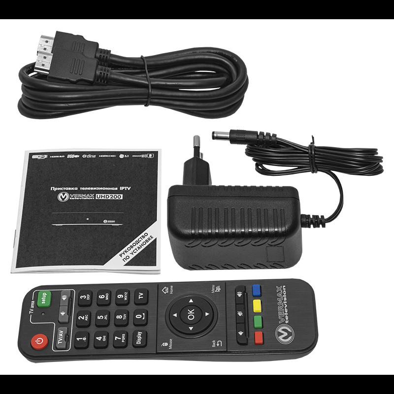 Приставка телевизионная 4K IPTV Vermax UHD200