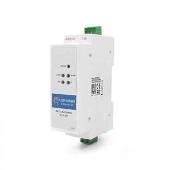 USR-DR301, 1-портовый конвертер интерфейсов RS232 в Ethernet TCP/IP на DIN-рейку