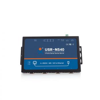 4-портовый конвертер интерфейсов RS232/RS422/RS485 в Ethernet TCP/IP, металл корпус