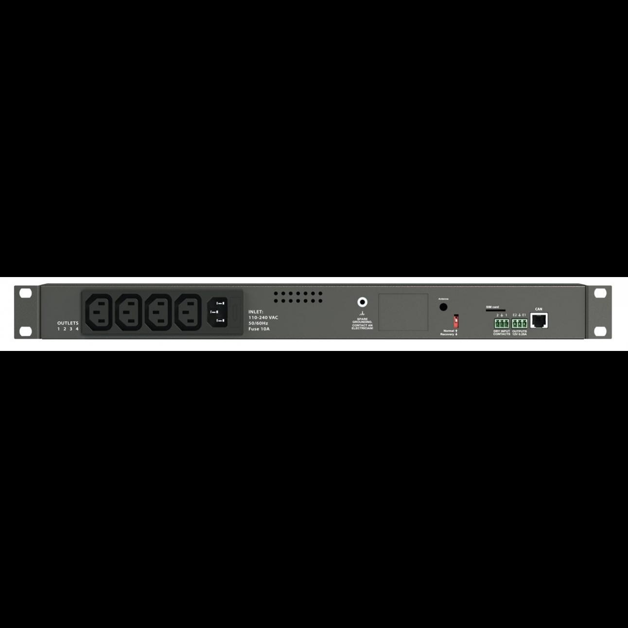Блок мониторинга Vutlan с 4 розетками VT604