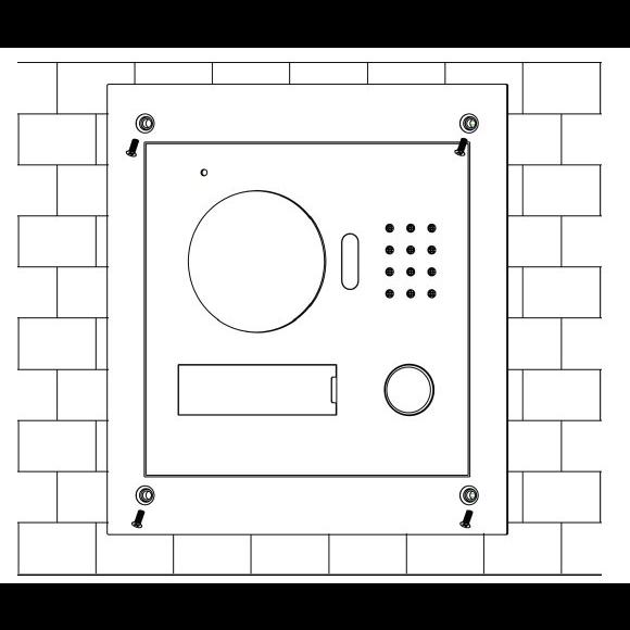 Задняя панель для врезного монтажа Dahua VTOB107 для DHI-VTO2000A