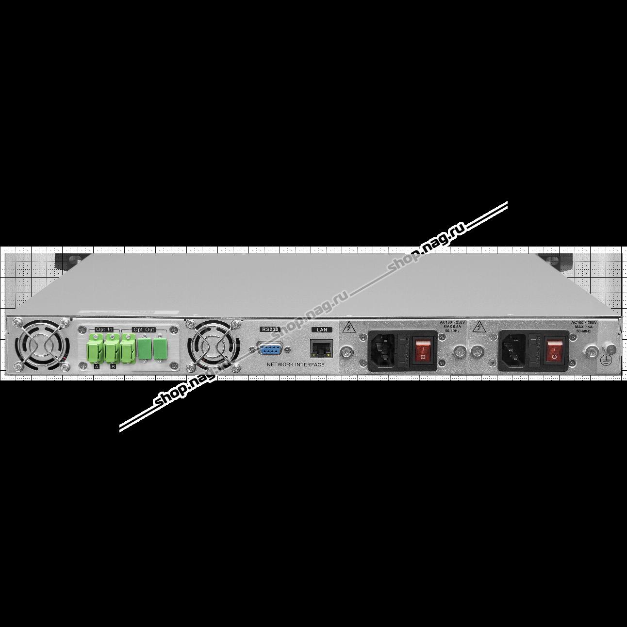 Оптический усилитель VERMAX для сетей КТВ, 22dBm выход, 2 входа