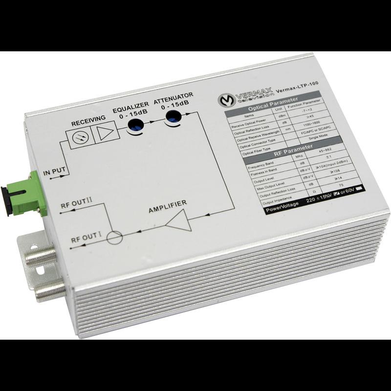 Приёмник оптический VERMAX для сетей КТВ, 100dBμV