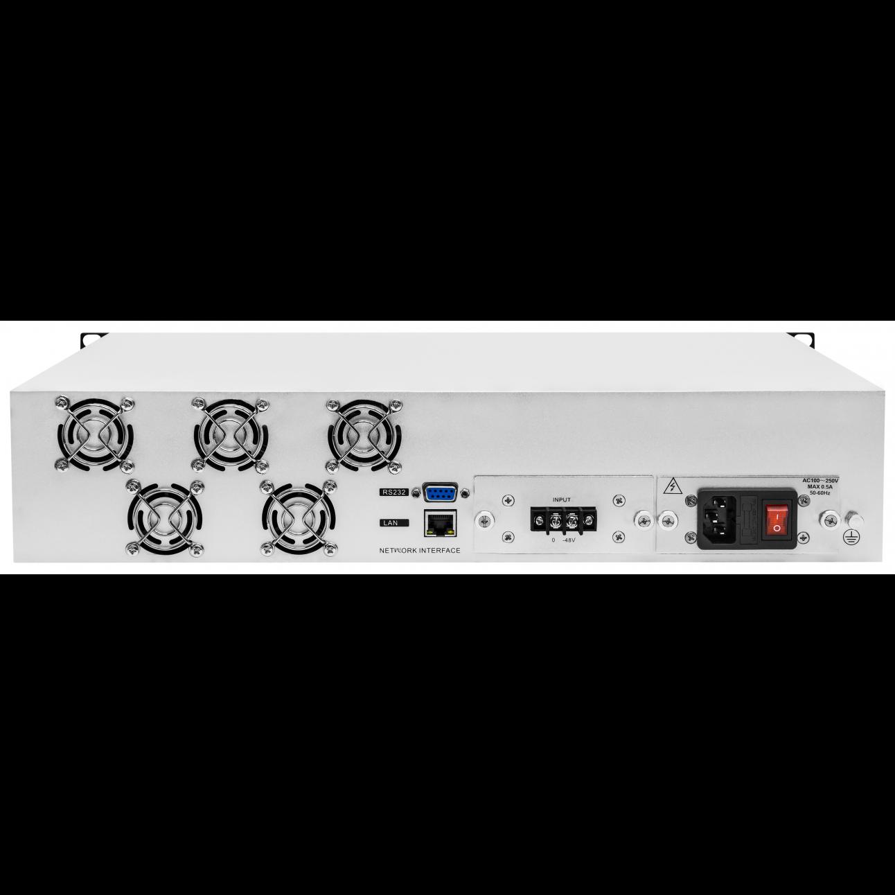 Оптический усилитель VERMAX для сетей КТВ, 2 входа, 16*18dBm выхода, WDM фильтр PON