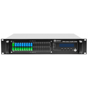 Оптический усилитель VERMAX для сетей КТВ, 2 входа, 16*19dBm выхода, WDM фильтр PON
