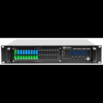 Оптический усилитель VERMAX для сетей КТВ, 2 входа, 16*23dBm выхода, WDM фильтр PON