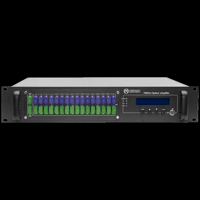 Оптический усилитель VERMAX для сетей КТВ, 2 входа, 32*16dBm выхода, WDM фильтр PON