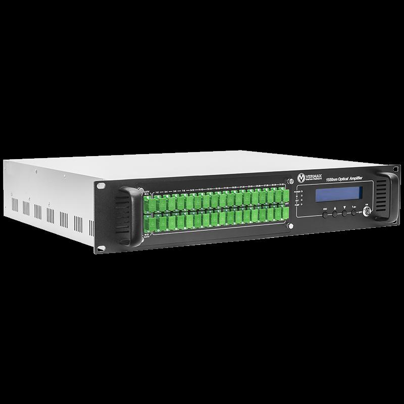 Оптический усилитель VERMAX для сетей КТВ, 2 входа, 32*18dBm выхода